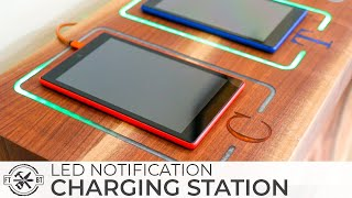 Smart DIY Charging Station with LED Notifications | How to Build
