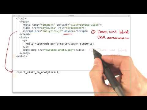 Async JavaScript - Website Performance Optimization