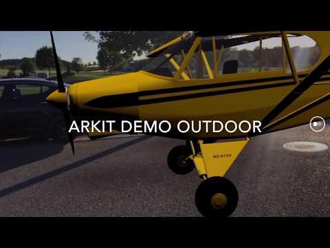 Download Youtube: ARKit Demo mit animiertem Flugzeug und einem Gebäude in realer Größe - Augmented Reality 2017