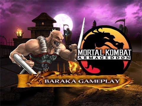 Mortal Kombat: Armageddon - Baraka Gameplay [720p60]