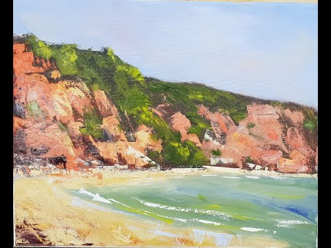 "Learn To Paint TV E44 ""Coloured Sands"" Acrylic Painting Palette Knife Beginners"
