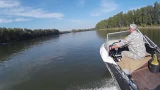 Прогулка по реке Обь   Лодка КРЫМ