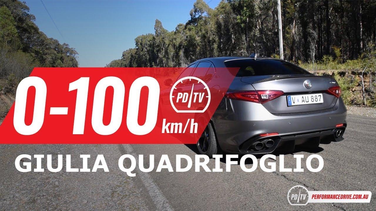 2018 Alfa Romeo Giulia Quadrifoglio 0 100km H Engine Sound Youtube