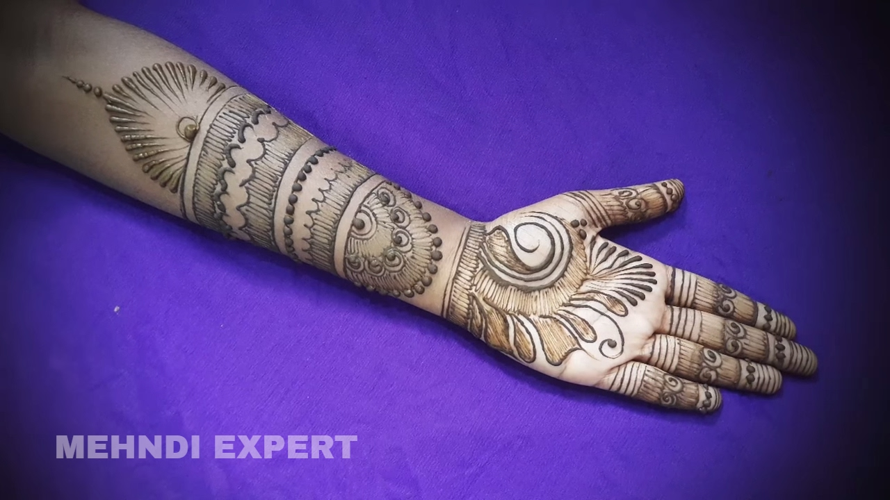Mehndi Art Step By Step : Fusion of arabic and full hand mehndi designs for hands easy