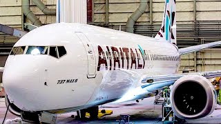 FIRST 737 MAX with AIR ITALY Livery EMERGES