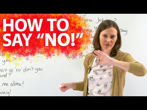 25 ways to SAY NO strongly!