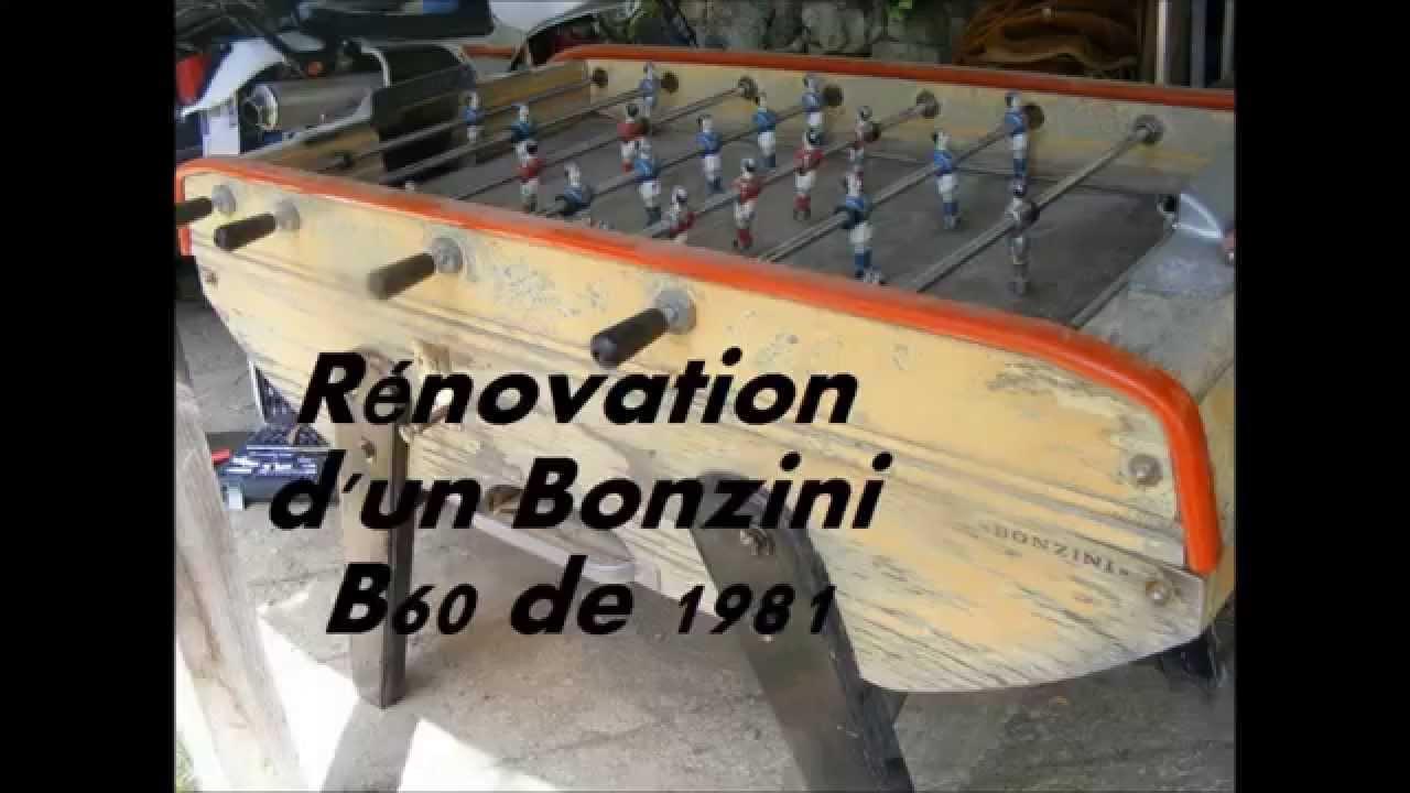 r novation d 39 un baby foot bonzini b60 de 1981 youtube. Black Bedroom Furniture Sets. Home Design Ideas