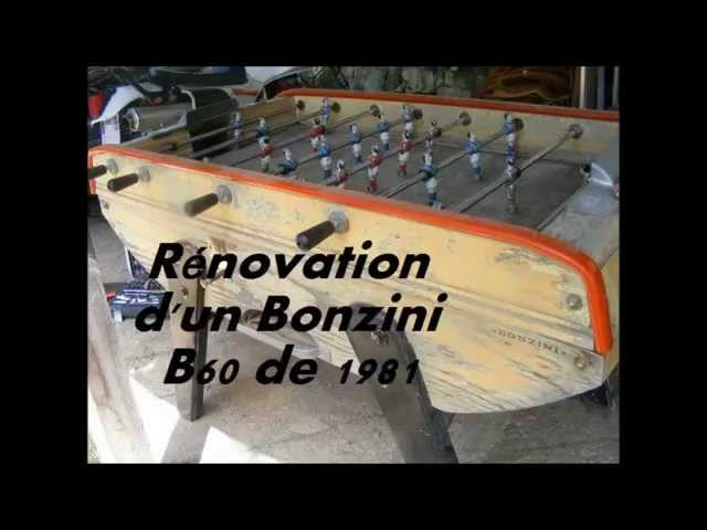 Rénovation dun Baby-foot bonzini B60 de 1981