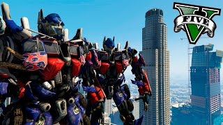 GTA V PC MODS - REVOLUCION TRANSFORMER !! OMG - ElChurches