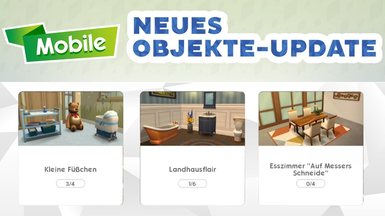Esszimmer Sims 4 Die Sims Mobile Neues Objekte Update Sims Blog De