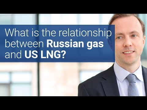 What is the relationship between Russian gas and US LNG?