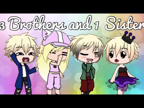 Three Brothers and One Sister   Gacha Life   Lovely Bunny
