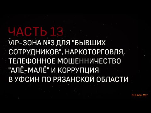 "Хроники ГУЛАГа 21 века: VIP-зона для ""БээС"", наркоторговля, ""алё-малё"" и коррупция в ФСИН"