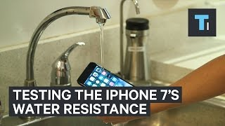 People test the iPhone 7's water resistance