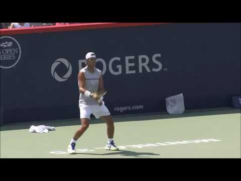 Rafael Nadal 1st practice at Montreal Masters 2017