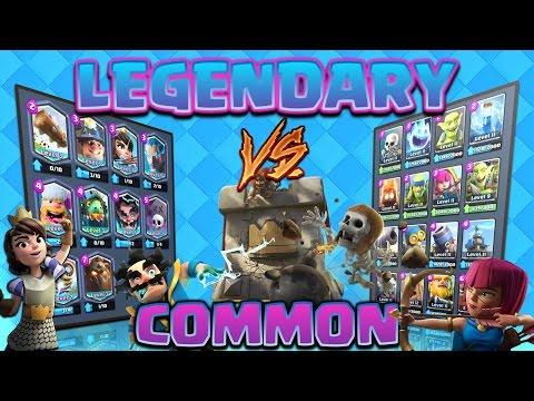 Clash Royale - *LEGENDARY V's COMMON!* Rarity battles! Ep#1