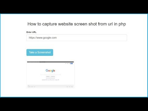 How To Take Website Screen Shot From URL In PHP