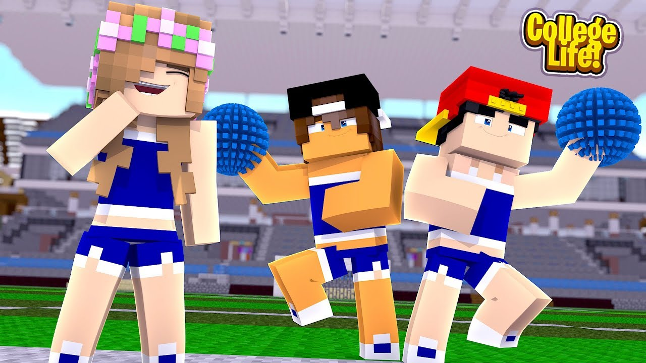 ropo-jack-become-cheerleaders-minecraft-college-life-little-kelly