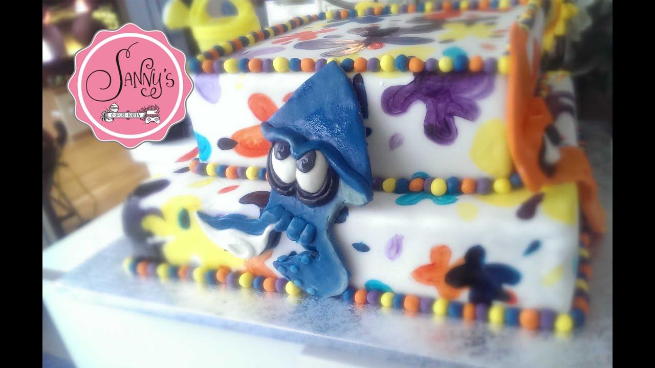 Splatoon Tortehow To Make A Cakesplatoon Nintendo Cake By Sannys