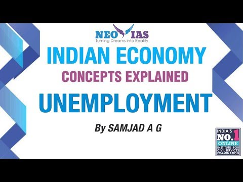 UNEMPLOYMENT | INDIAN ECONOMY | NEO IAS