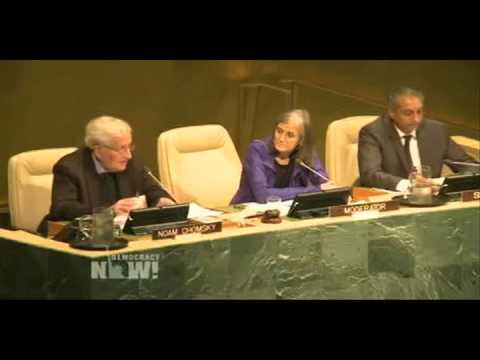Noam Chomsky Interviewed by Amy Goodman at United Nations
