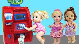 Baby Alive Oyuncak Bebek ATM'den Para Çekiyor | Oyuncak Para Çekme Makinesi | EvcilikTV