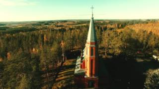 Video FINLAND Parikkala, Church of Saari, 4K Bird's Eye view & Lux aeterna by zero-project download MP3, 3GP, MP4, WEBM, AVI, FLV Agustus 2018
