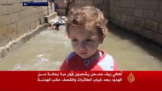 هدوء مشوب بالحذر في حمص