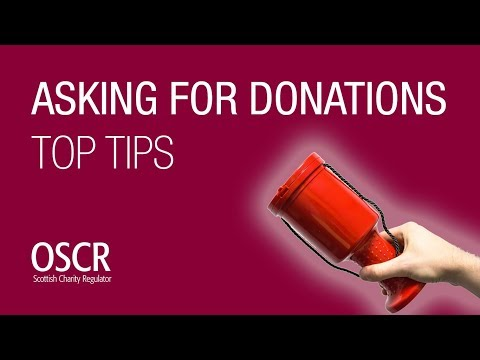 Asking For Donations - Top Ten Tips