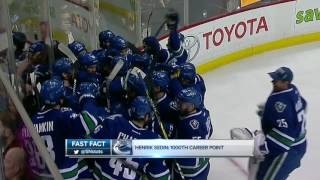 Henrik Sedin makes history in Vancouver, as the Canucks top Panthers