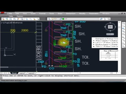 Plumbing - Design and Calculation of Drainage System with autocad Drafting in English / Hindi