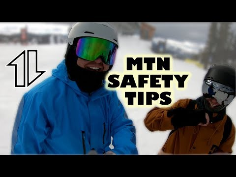 Safety Tips for Snowboarding (especially for large turns)