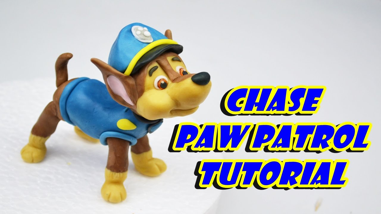 Kids Toys Action Figure: Chase PAW PATROL Cake Topper Fondant