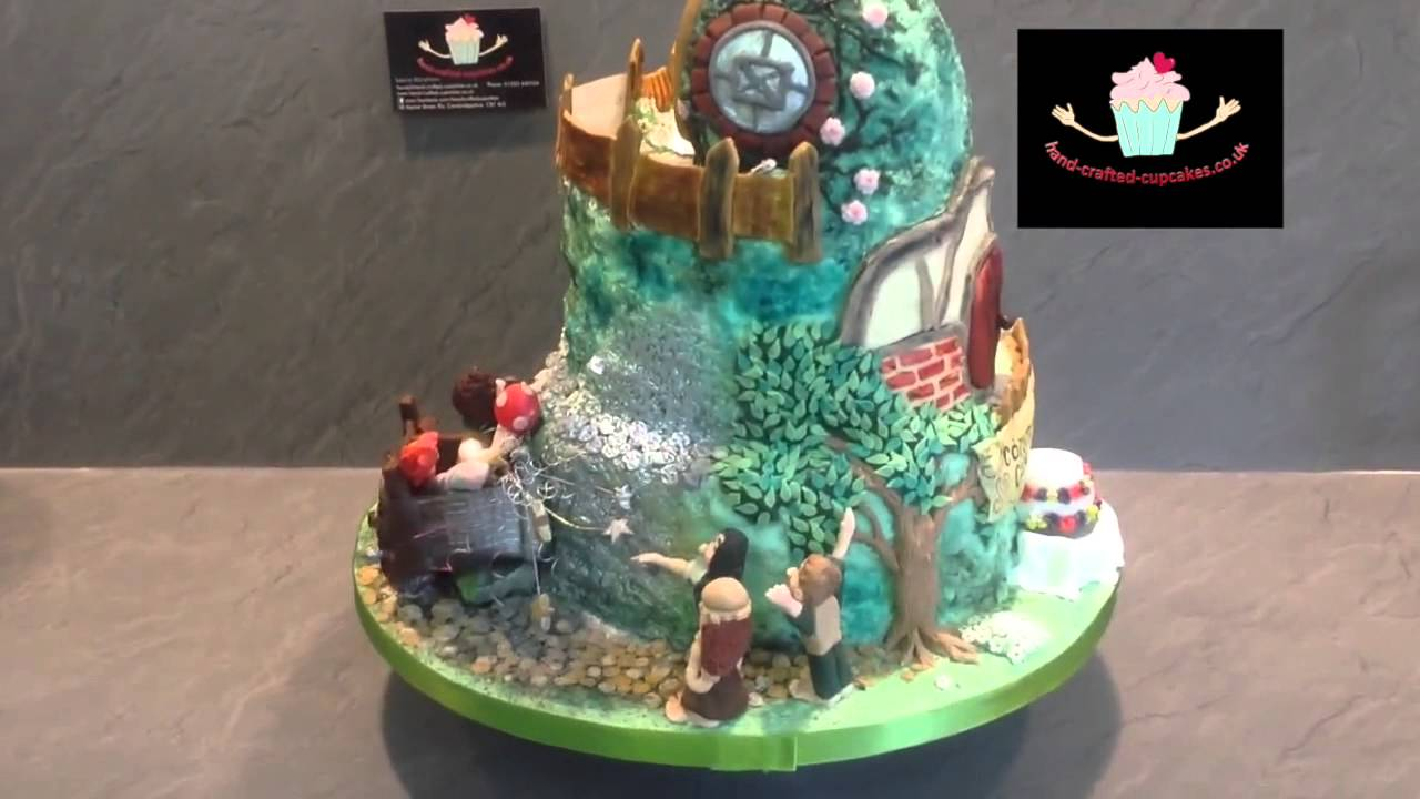 Lord Of The Rings Themed 3 Tier Wedding Cake Youtube