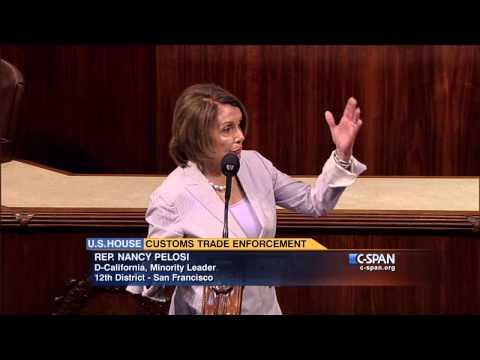 House Minority Leader Nancy Pelosi on Trade Legislation (C-SPAN)