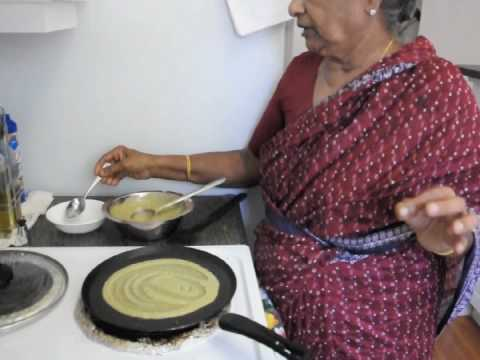 pesarattu (green gram) dosa recipe