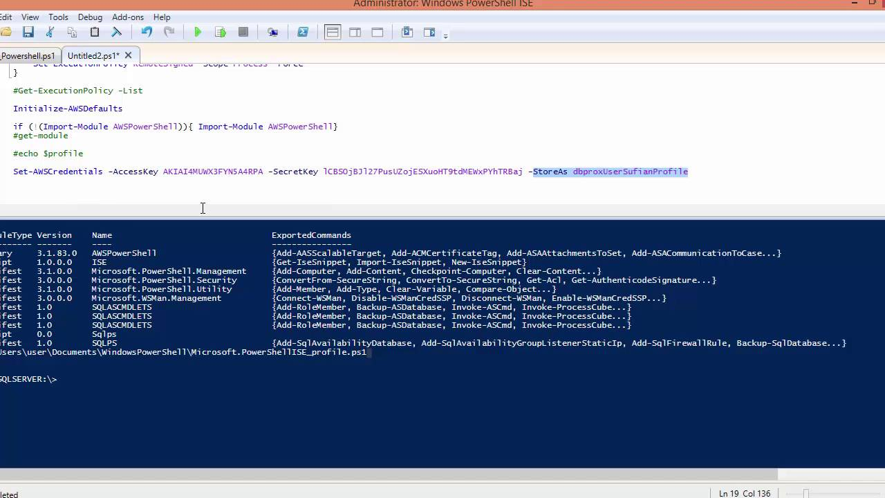 Connect to AWS with Windows PowerShell
