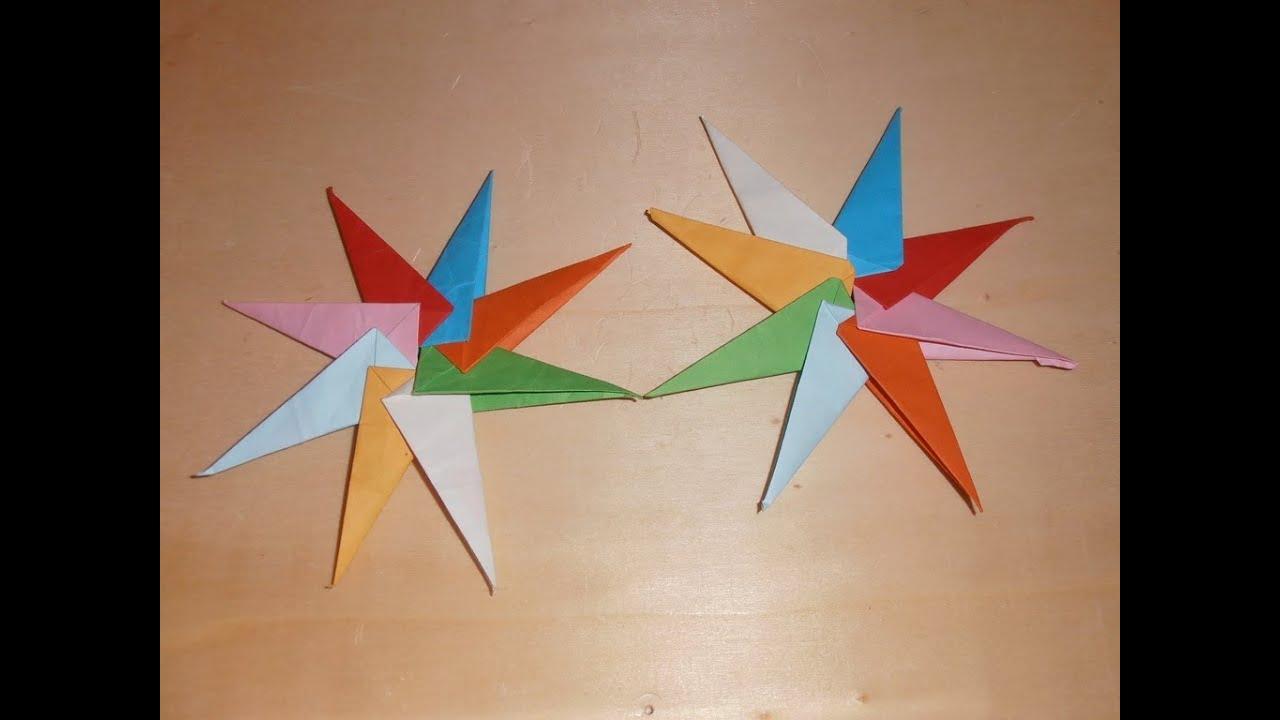 Origami estrella 8 puntas youtube - Origami de una estrella ...