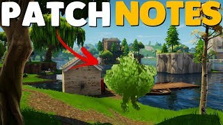 BUSH CUSTOMIZATION UPDATE / PATCH NOTES | Fortnite Battle Royale