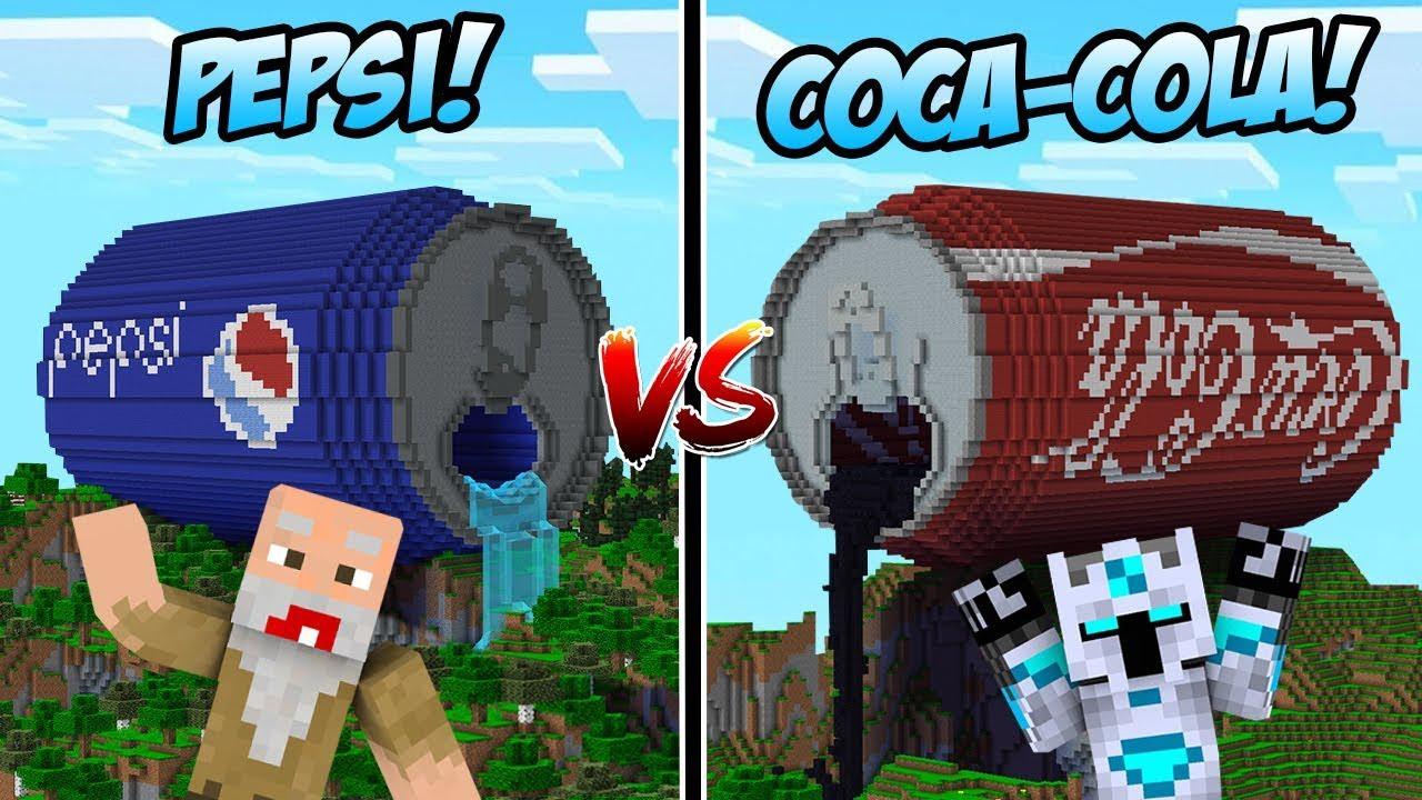 PEPSI VS COCA-COLA! YANG MANA LEBIH TRENDING DI MINECRAFT!