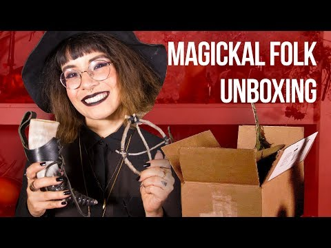 Unboxing Magickal Folk Eclectic Witchery Kit Box// WitchCraft | HISSYFIT