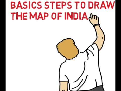 EASY BASICS STEPS TO DRAW THE MAP OF INDIA  I DRAW THE MAP OF INDIA I