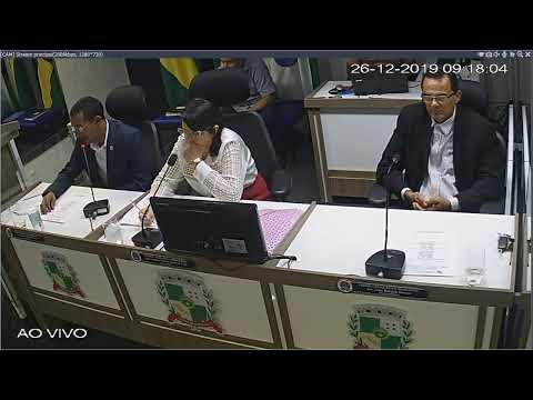 2ª Sessão Extraordinária da Câmara Municipal de Campo do Brito 26/12/2019