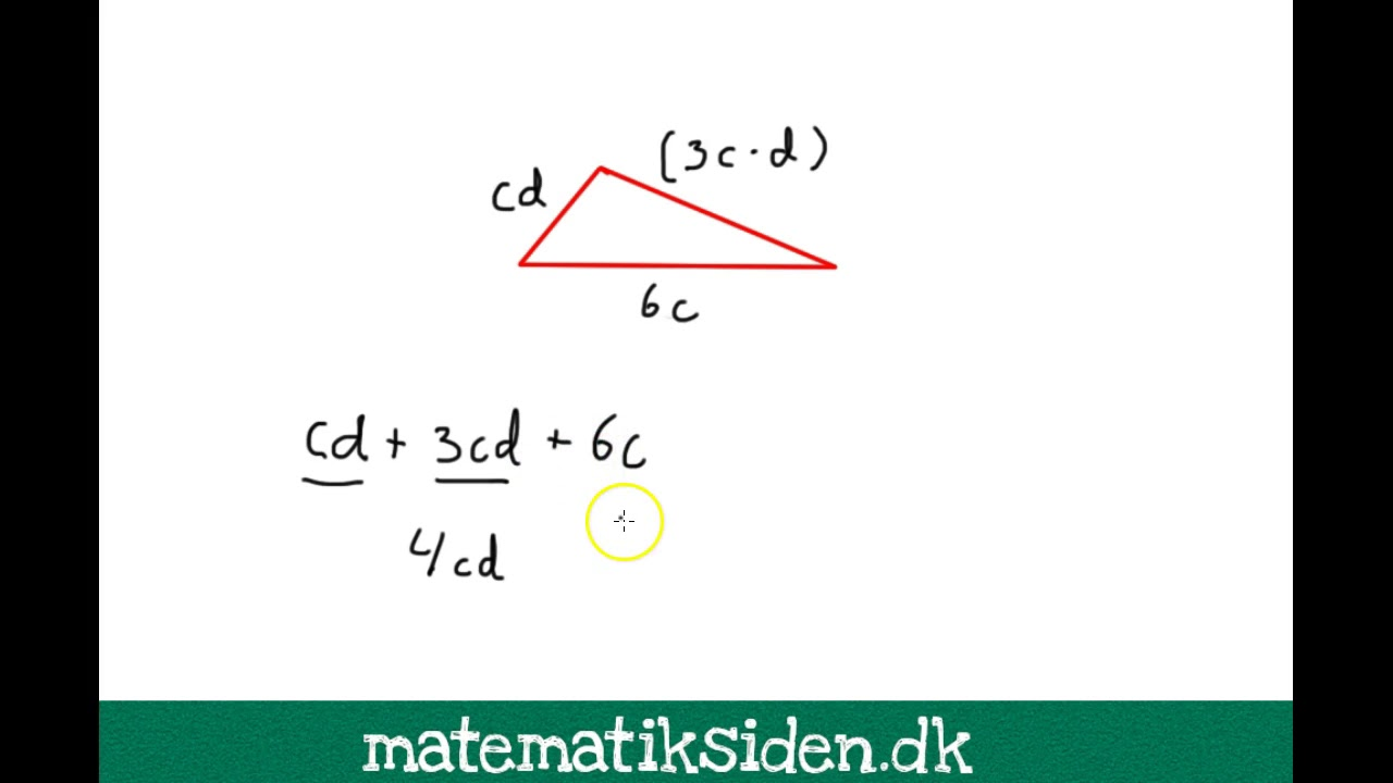 Algebra 3 - Find omkreds med algebra