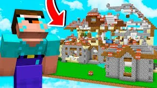BLOWING UP A FANS MINECRAFT WORLDS!