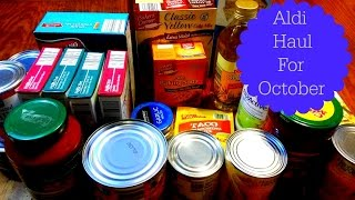 "Aldi Haul For October 2015 ""SHOPPING FOR A ENTIRE MONTH!"""