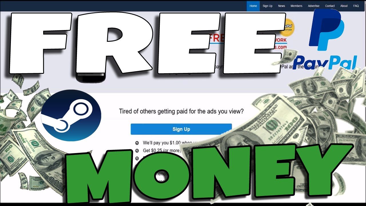How To: Get Free Money for Paypal and Steam! (2016 LEGIT)