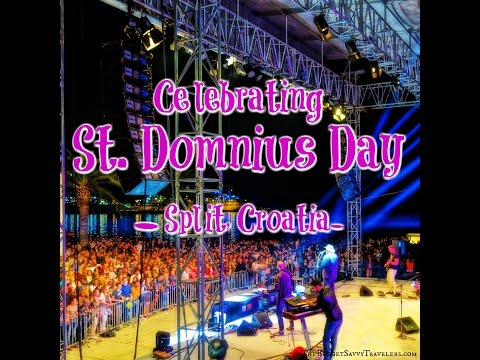 Partying in Split, Croatia on St. Domnius Day