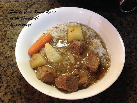 How To Cook A Beef Rump Roast In The Crockpot - YUMMY