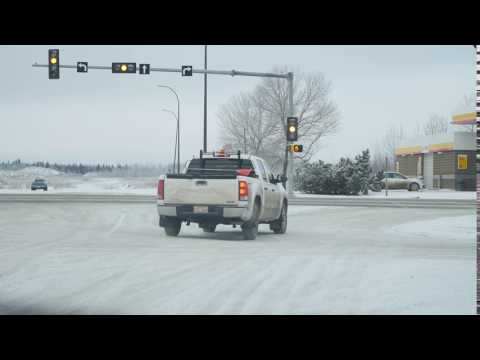 Cold Lake Traffic Camera video of me running a red light...